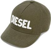 Diesel logo embroidered cap - kids - Cotton - 46 cm