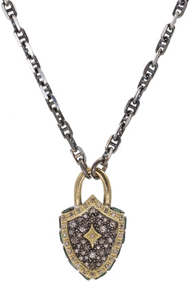 Armenta Old World Diamond Shield Pendant Necklace
