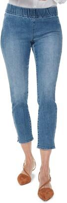 NYDJ Pull-On Ankle Slit Skinny Jeans