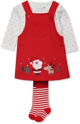 M&Co Reindeer dress and tights set (Newborn-18mths)
