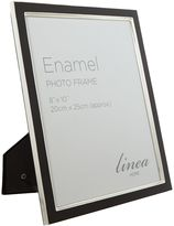 Linea Black enamel photo frame, 8 x 10