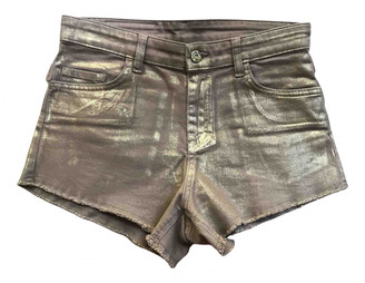 Zadig & Voltaire Gold Cotton Shorts