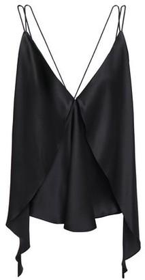 Michael Lo Sordo Open-back Asymmetric Layered Draped Silk-satin Camisole