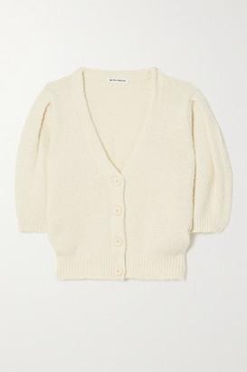 Reformation Hope Cropped Organic Cotton Cardigan - Ivory