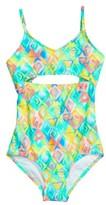 Gossip Girl Girl's Electro Wave One-Piece Swimsuit