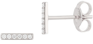 Nephora 14K Diamond Small Bar Studs