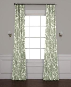 "Exclusive Fabrics & Furnishings Tea Time Blackout 50"" x 120"" Curtain Panel"