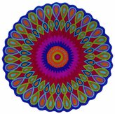 LNR Home Vibrance Multi-colored Floral Wool Rug (5' Round)