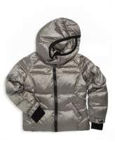 S13/Nyc Little Boy's Metallic Hooded Quilted Jacket