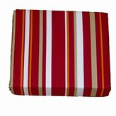 Columbia Sportwear Cotton Sheet Set Red Stripe Full Bed Sheets Deep Pocket