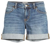 Caslon Women's Rolled Denim Boyfriend Shorts