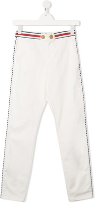 Elisabetta Franchi La Mia Bambina TEEN high-waisted slim fit trousers
