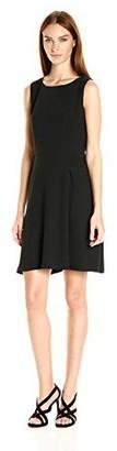 Armani Exchange A|X Women's Black Sleeveless 'Faux Belt Dress 0