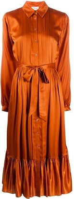 Temperley London Satin Shirt Dress