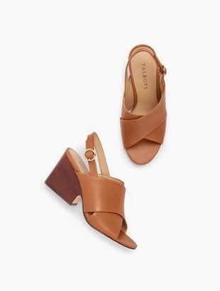Talbots Amberley Slingback Wedge Sandals - Vachetta