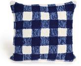 "Liora Manne Frontporch Gingham 18"" Pillow - Blue"