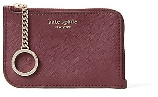 Kate Spade Medium L-Zip Coated Leather Card Holder