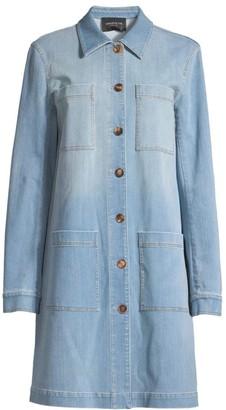 Lafayette 148 New York Corinthia Prestige Mid-Length Denim Jacket