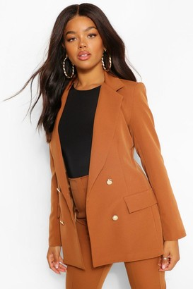 boohoo Double Breasted Button Front Blazer