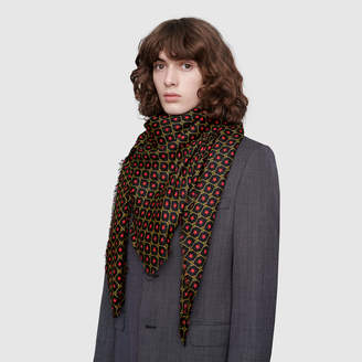 Gucci Shawl with GG star print