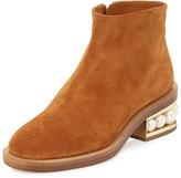Nicholas Kirkwood Casati Pearly Ankle Boot, Tan