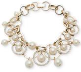 Carolee Gold-Tone Imitation Pearl Shaky Link Bracelet
