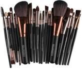 MagiDeal Set of 22 Pieces Professional Cosmetic Blending Kabuki Foundation Makeup Brush Kit Face Eyeshadow Eyeliner Lip Make Up Tools NATURAL WOOD HANDLE
