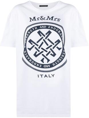Mr & Mrs Italy oversized logo T-shirt