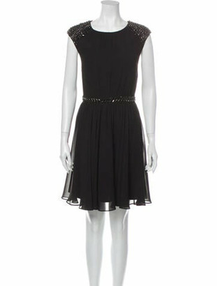 Ted Baker Crew Neck Mini Dress Black