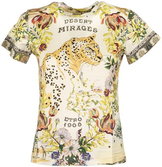 Etro Floral T-shirt With Tiger