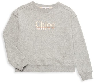 Chloé Little Girl's & Girl's Embroidered Logo Sweatshirt