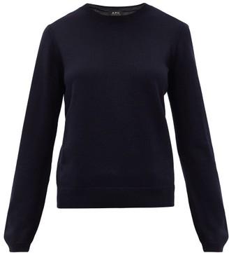 A.P.C. Savannah Merino-wool Sweater - Womens - Navy