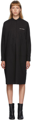 MM6 MAISON MARGIELA Black Poplin Pocket Dress