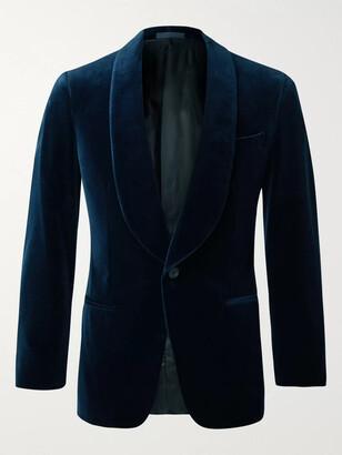 Kingsman Slim-Fit Cotton-Velvet Tuxedo Jacket