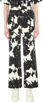 Sportmax Navile wide high-rise crepe trousers