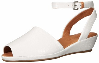 Gentle Souls by Kenneth Cole Women's Lily Ankle Wrap Low Wedge Sandal