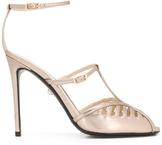 ALEVÌ Milano Metallic High-Heeled Sandals