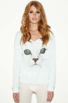 Rebel Yell Kitty Cut Off Lounger in Vintage Mint