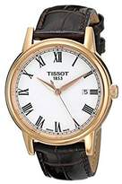 Tissot Men's T0854103601300 Carson Gold-Tone Watch with Faux-Leather Band