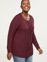 Lane Bryant Cable Knit Shimmer Tunic Sweater