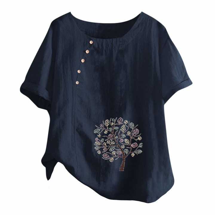 Plus Size Womens Daisy Baggy Blouse T Shirt Ladies Casual Loose Tunic Tops 8-24