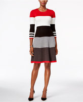 Jessica Howard Striped Fit & Flare Sweater Dress