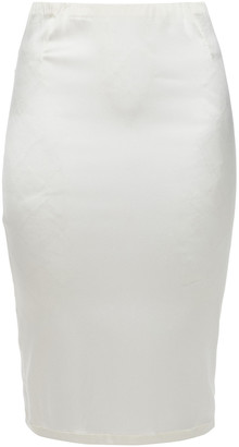 La Perla Stretch-silk Satin Slip Skirt