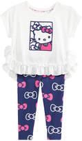 Hello Kitty 2-Pc. Ruffled Top & Printed Leggings Set, Baby Girls (0-24 months)