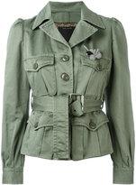 Marc Jacobs sateen belted jacket - women - Cotton - 2