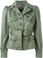 Marc Jacobs sateen belted jacket - women - Cotton - 4