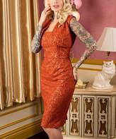Tailor & Twirl Women's Special Occasion Dresses Ginger - Ginger Paisley Lace Sleeveless Dress & Bolero - Women, Juniors & Plus