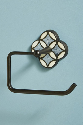 Anthropologie Aleah Inlay Toilet Paper Holder By in Black Size ALL