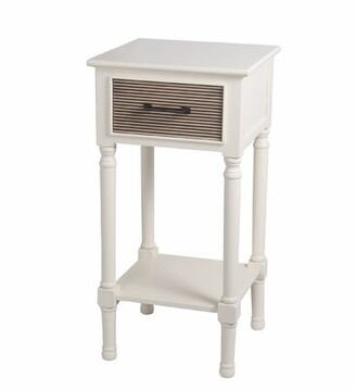 Allura Highland Dunes Pearl End Table Highland Dunes Color: White