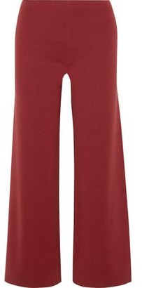 Mansur Gavriel Cropped Wool-blend Wide-leg Pants